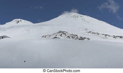 Two peaks of mount Elbrus. On a Sunny summer day. HD