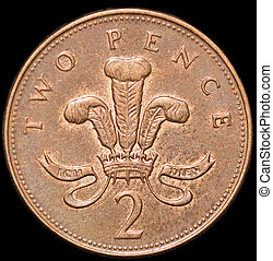 Two pence - two penny coin,1997