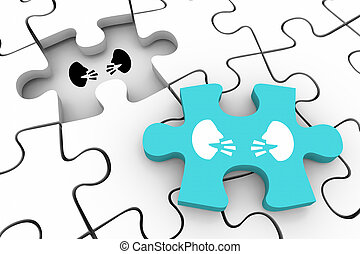 Two People Faces Talking Discussion Communication Final Puzzle Piece 3d Illustration