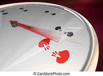 Two People Faces Talking Discussion Communication Speedometer Fast Action 3d Illustration