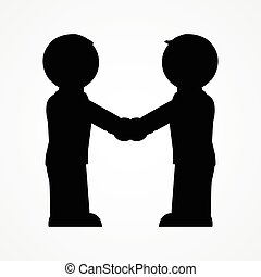 Two people handshake icon