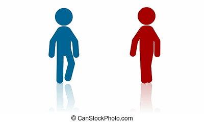 Two people handshake