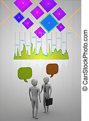 Two people talking, communication - Two people talking,...