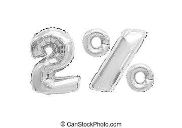two percent from balloons chrome color
