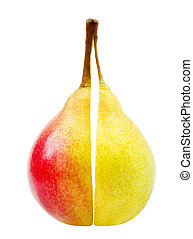 Two perfect wet pears