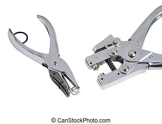 Two perforation device on a white background