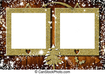 Two photo frames Christmas cards