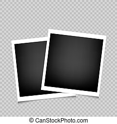 two photo frames transparent background