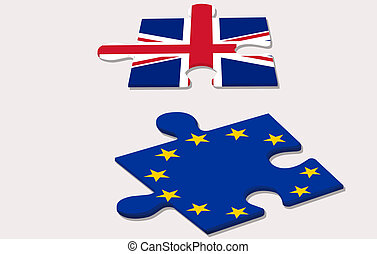 eu referendum in united kingdom - two piece of puzzle and eu...
