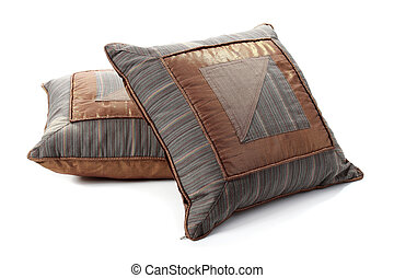 two pieces of ethnic pillow