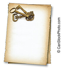 paper with old keys