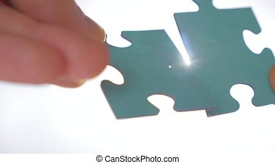 Two pieces of puzzle are interconnected. Problem solution ...