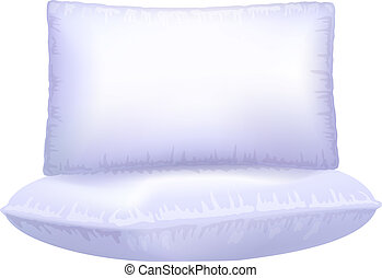 Two pillows on white background.