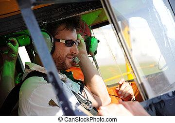 Two pilots testing the radio (1)