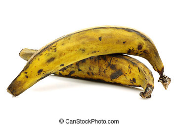 two plantain (baking) bananas