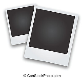 Two Polaroid Picture Frames Vector