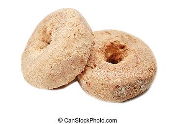 Powdered Cinnamon Doughnuts - Two Powdered Cinnamon...