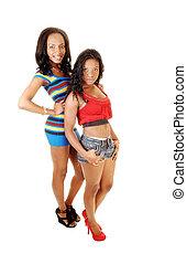 Two pretty black girls.