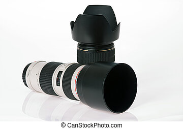 two professional camera lens