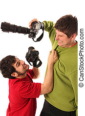 Two Professional photographers fighting
