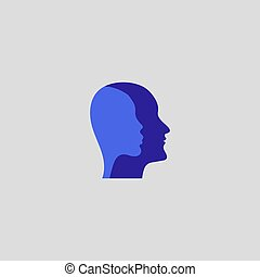 Two profiles, man and woman