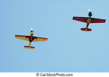 Two propeller-driven airplanes 2