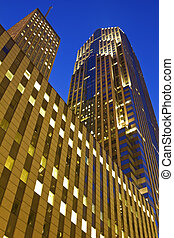Two Prudential Plaza in Chicago. One Prudential Plaza in the...