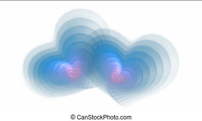 two pulsatile hearts