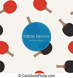 Two rackets for playing table tennis, seamless pattern.