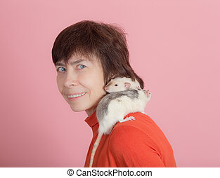 Two rats on the shoulder