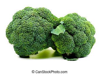 Two Raw Broccoli