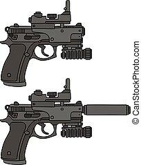 Two recent handguns