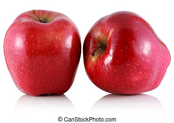 Two red apple.