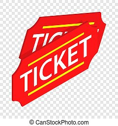 Two red tickets isometric icon