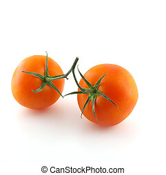 Two red tomatoes