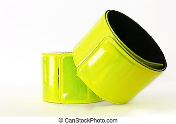 two reflective tapes on white background