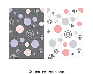 Two retro grunge backgrounds