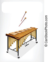 Two Retro Vibraphone with A White Banner - Music Instrument...