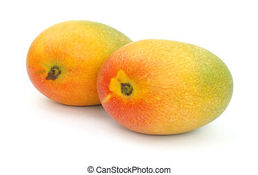 Two ripe mangoes