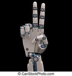 Two Robot - Robotic hand shaped and measures that mimic the...