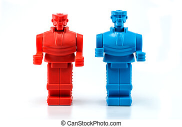 two robot stanfing