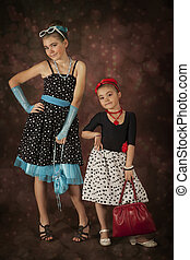 Two Rockabilly girls