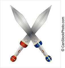Two Roman Swords