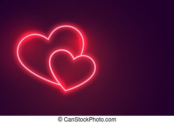 two romantic hearts connected to each other