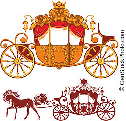 Royal carriage - Two Royal carriage. Detailed image and...