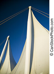 Two Sails - Two of the Five Sails at the Canada Place...