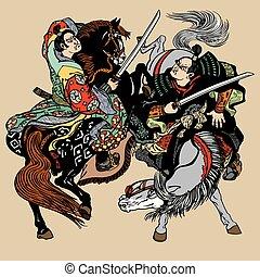 two samurai