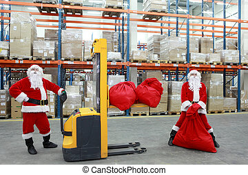 santa clauses workers