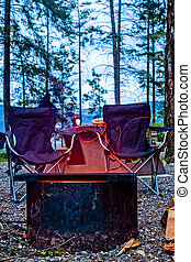 Two Seats at a Campfire