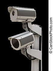 Two security surveillance cameras,